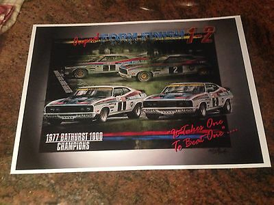 1977 Bathurst 1000 Winners 1-2 Finish Print