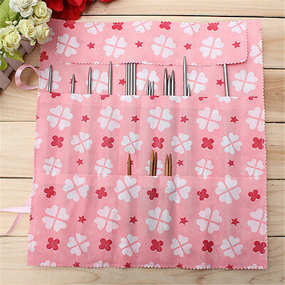 22 Slots Crochet Hook Knitting Crocheting Needle Case Holder Organizer Bag