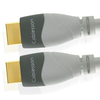 MacKuna High Speed Cablesson White HDMI Cable v1.4 / 2.0 4K2K Gold 3D 1080p HDTV