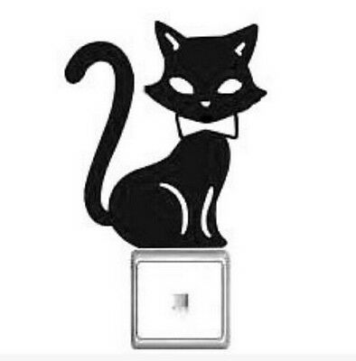 FD1244 Tail Up Elegant Cat Switch Light Funny Wall Decal Vinyl Stickers DIY *1pc