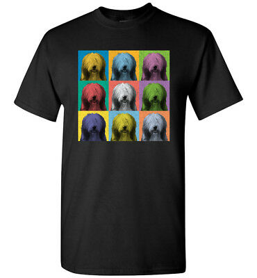 Bearded Collie Vintage-Style Pop-Art T-Shirt Tee, Men's Women's Youth Tank Long