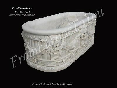 Beautiful Hand Carved Victorian Style Lion Marble Estate Bathtub - Bt005
