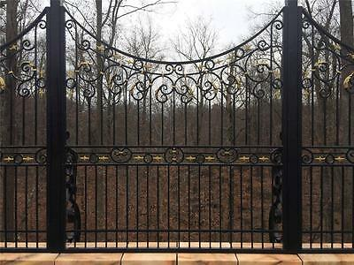 Hand Wrought Custom Iron Fence Panels - Wrought Iron Custom Fence - Asp3