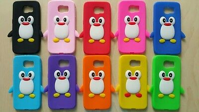 10pcs/lot 3D Penguin Silicone Gel Soft Case Cover For Samsung Galaxy S6