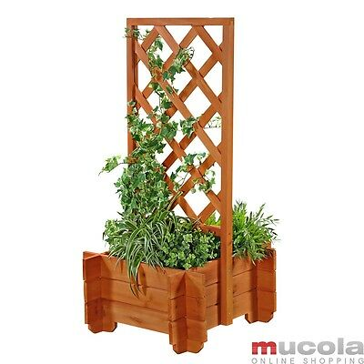 blumenkasten mit spalier rasenkanten mit rankgitter aus holz eur 194 90 picclick de. Black Bedroom Furniture Sets. Home Design Ideas