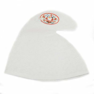 Adult White Gnome Hat Fancy Dress Costume Accessory One Size Fits All Adults