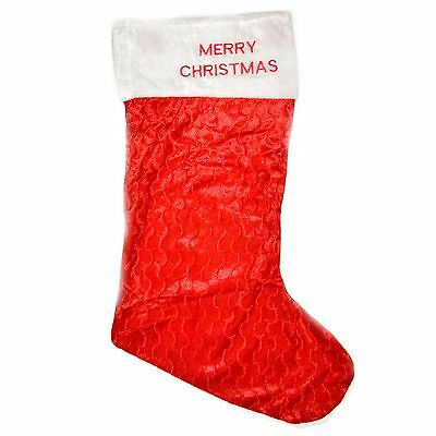 Giant Red Velvet Xmas Father Christmas Santa Sack Stocking Socks 88cm Gift Bags