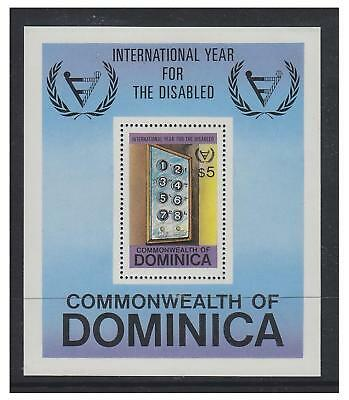 Dominica - 1981 Disabled Persons sheet - MNH - SG MS786