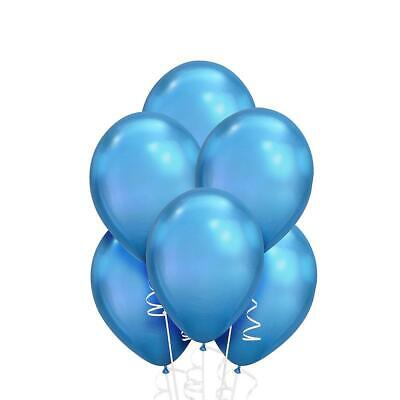 "100 X 12"" Metallic Blue Latex Air/helium balloons birthday party Celebrations"