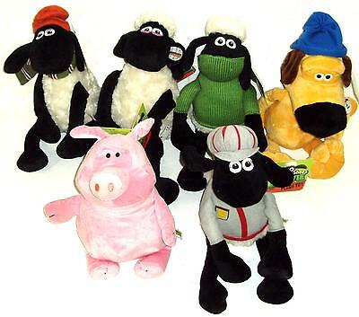 40cm SHAUN THE SHEEP & FRIENDS SOFT TOY GENUINE LICENSED