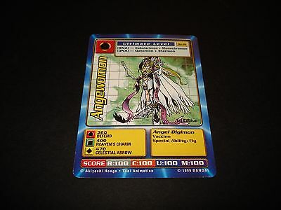 Bandai Digimon Card Bo-16 Angewomon-Great Condition-1St Edition