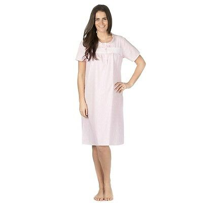 Cottonique Ladies Traditional Short Sleeved Nightdress