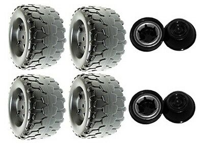Power Wheels T8396 or T8396-9993 Barbie Jammin' Jeep Replacement Wheel- 4 Pack
