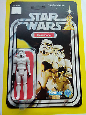 STORMTROOPER ACTION FIGURE CUSTOM RESTORED ONTO 12 BACK STARWARS NEW HOPE CARD