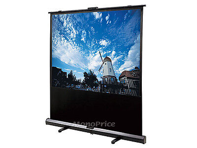 Monoprice 8005 Portable Pull-UP Projection Screen -White Fabric (80 inch, 4:3)