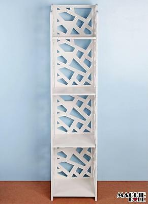 New White Hollow Carved Kitchen Bathroom Storage shoes Rack book shelves dq12030