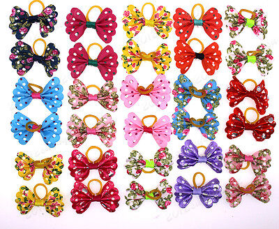 Popular New Pet Dog Hair Bows Small Bowknot Nice Style Pet Grooming bows Topknot