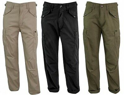 Highlander RipStop M65 Mens Trousers - Combat Army Hunting Fishing Military