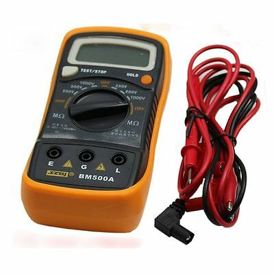 Latest BM500A Digital Insulation Resistance 1999M 1000V Tester Meter Megohmmeter