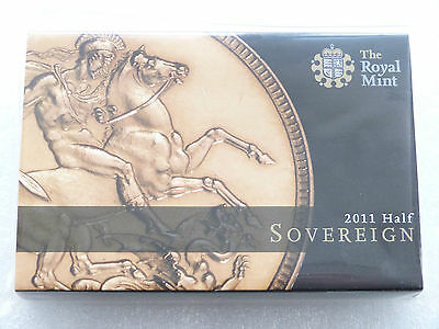 2011 Royal Mint Elizabeth II St George Gold Half Sovereign Coin Boxed Sealed