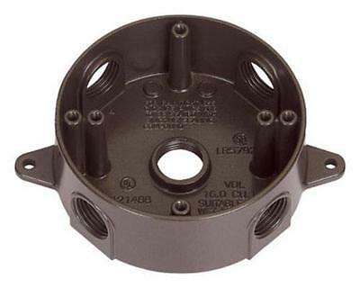 Sigma Electric 143854BR Weatherproof Round Outlet Box, Bronze
