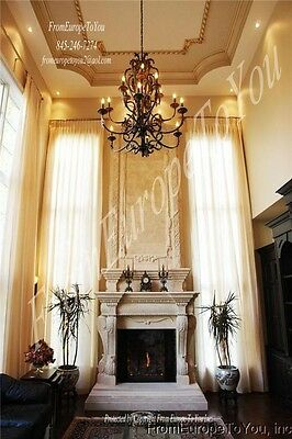 Hand Carved 14'. Marble Fireplace Mantel 10-Fety3