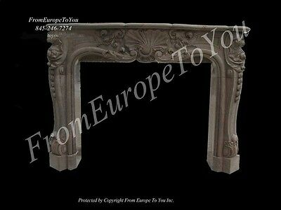 Beautiful Hand Carved Marble French Style Fireplace