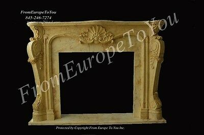 Beautiful Hand Carved Marble French Style Mantel - Mbf046