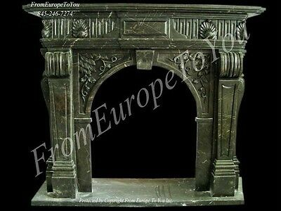 Hand Carved Marble Classical Fireplace Mantel Tle5