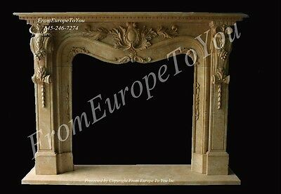 Beautiful Hand Carved Marble Fireplace Mantel #mbf108