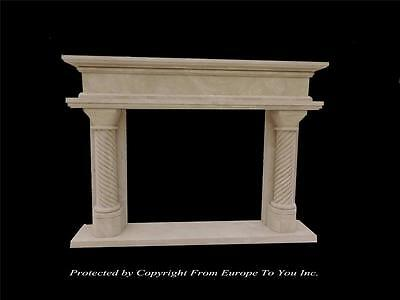Beautiful Hand Carved Sandstone Estate Fireplace Mantel - Fp524