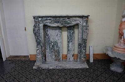 Beautiful Hand Carved Estae Fireplace Mantel - Hl027