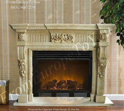 Beautiful Hand Carved Marble Dining Room Fireplace Mantel Mby138