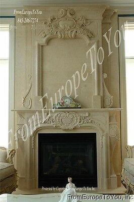 Wonderful Hand Carved Marble Fireplace Mantel Fpm80