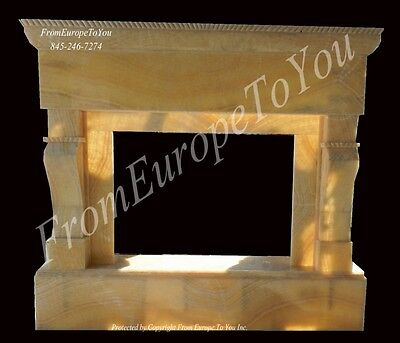Beautiful Hand Carved Onyx Marble Classical Fireplace Mantel Mnt97