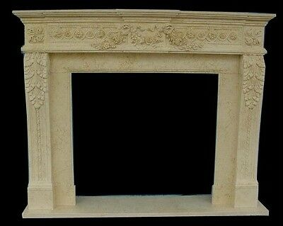 Hand Carved Marble Classical Fireplace Mantel Fgd036