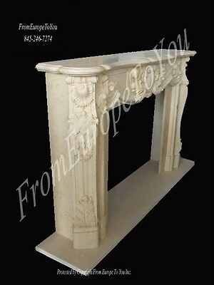 Hand Carved Marble Classical Fireplace Mantel Mby58