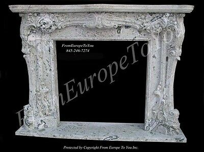 Beautiful Hand Carved Marble Fireplace Mantel Fpm55