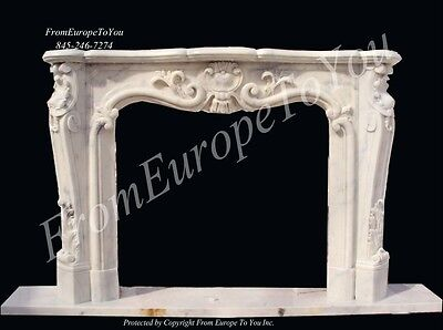 Hand Carved French Style Marble Fireplace Mantel Xf1207