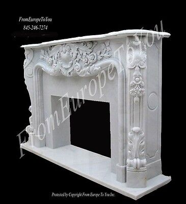 Hand Carved French Style Marble Fireplace Mantel Fgd021