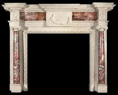 Hand Carved Marble Classical Fireplace Mantel Lm006