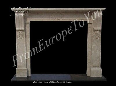 Nice Hand Carved Marble Fireplace Mantel
