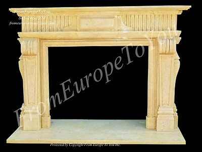 Hand Carved Marble Classical Fireplace Mantel Tle3