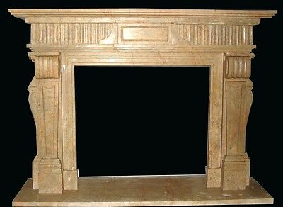 Beautiful Hand Carved Marble Fireplace Mantel Tle6A