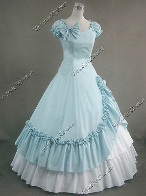 Southern Belle Civil War Gown Period Dress Reenactment Theatre Clothing Punk 208