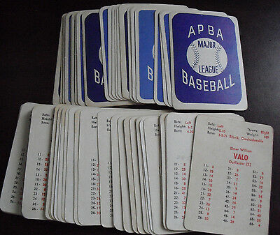 BIG Lot of 66 Vintage 1960s APBA Baseball Game Player Cards with Stars