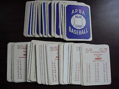 BIG Lot of 70 Vintage 1960s APBA Baseball Game Player Cards