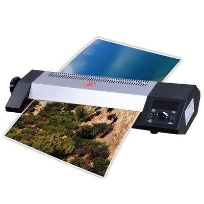 "13"" Steel Hot Cold Thermal Laminator A3 A4 LCD Display 4 Roller Machine Photos"