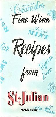 Vintage Cocktail Book Guide Recipes Bartending Mixology with Wine St. Julian