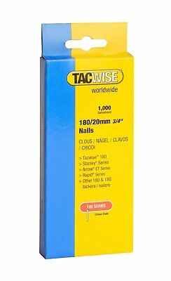 "Tacwise 180 Series Nails 20mm (3/4"") Galvanised Box Of 1000 Brads Nail 0360"